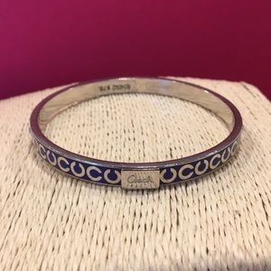 Coach Thin OP Art Rhinestone bangle